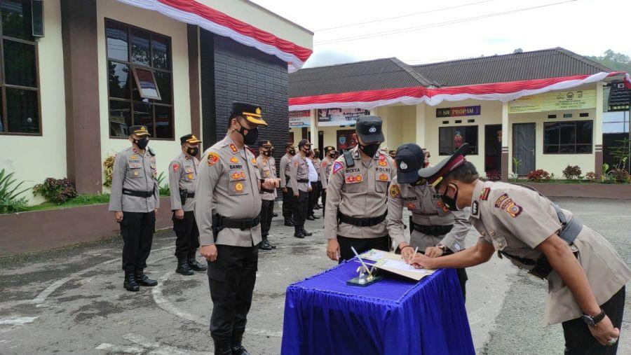 Kapolres Aceh Tengah Sertijab Kapolsek Lut Tawar dan Kapolsek Linge